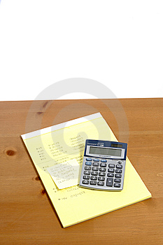 Calculator On Desk Stock Photography - Image: 6796662