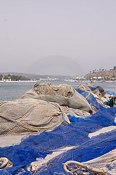 Menorca Mahon Port Fishing  Nets Royalty Free Stock Image - Image: 6796666