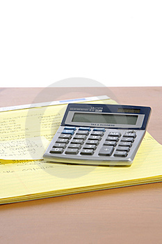 Calculator On Desk Stock Images - Image: 6796694