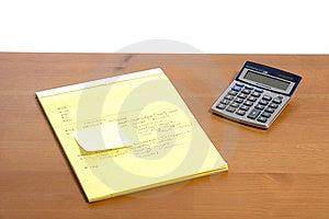 Calculator On Desk Stock Photo - Image: 6796770