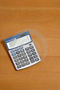 Calculatrice Sur Le Bureau Photo libre de droits - Image: 6796925