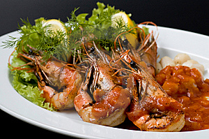 Cooked Shrimp Stock Images - Image: 6799164