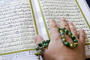 The Koran,  Tasbih (disbe, Subbah). Royalty Free Stock Photos - Image: 6799578