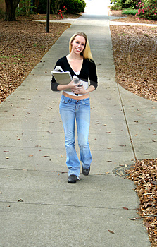 Student at College Royalty Free Stock Image
