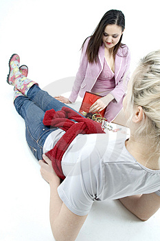 Girlie Conversation Stock Image - Image: 686501