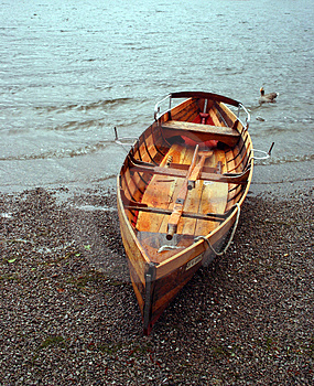 Boat On The Beach Royalty Free Stock Image - Image: 689286
