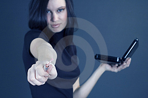 Girl With Attitude Stock Image - Image: 689451