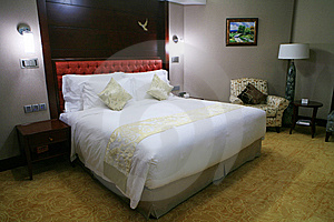 King Size Bed Stock Photo - Image: 6800490