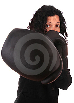 Business Woman With Positive Atitude Royalty Free Stock Images - Image: 6803089