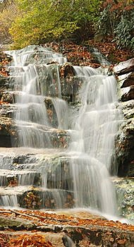 Cascading Mountain Waterfall Stock Image - Image: 6804911