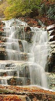 Cascading Mountain Waterfall Stock Image - Image: 6804911