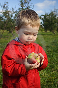 Eating An Apple Stock Photography - Image: 6805462