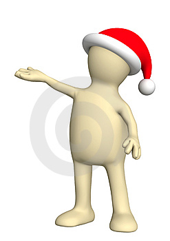 Puppet In A Christmas Costume Royalty Free Stock Photography - Image: 6808107