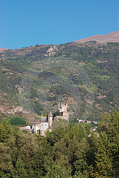 Castle In Italy, Aosta Stock Images - Image: 6809674