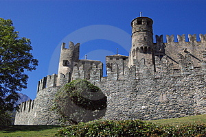 Castle In Italy, Aosta Royalty Free Stock Photo - Image: 6809805