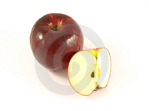 Red Apple, Isolated Royalty Free Stock Images - Image: 6810029