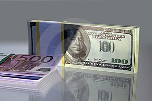 Euro And Dollars Stock Image - Image: 6811951