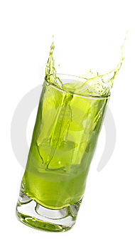 Drink with ice Free Stock Image