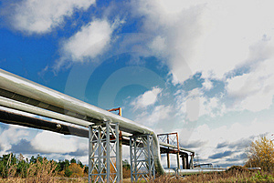Industrial Pipelines Stock Image - Image: 6813611