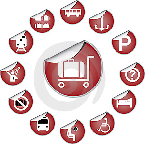 84_H. Transport Icons Royalty Free Stock Image - Image: 6813666