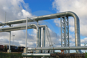 Industrial Pipelines Stock Photography - Image: 6814112