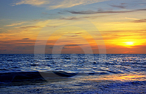 Technicolor Sunset Royalty Free Stock Photos - Image: 6816078