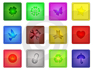 Colorful Sleek Icons Stock Images - Image: 6817834
