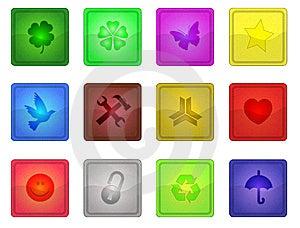 Colorful Sleek Icons Stock Images - Image: 6817834