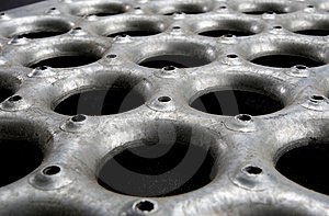 Grungy Metal Floor Material Angle Royalty Free Stock Photography - Image: 6817977