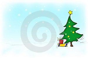 Christmas tree Free Stock Photography