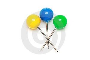 Push Pins Royalty Free Stock Photo - Image: 6820625