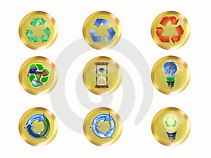 Recycle Buttons Royalty Free Stock Photography - Image: 6820837