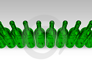 Green Bottles Stock Photography - Image: 6822072