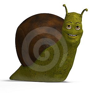 Cartoon Racing Snail Royalty Free Stock Images - Image: 6822399