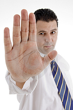 Mature Businessman Stopping You Royalty Free Stock Photo - Image: 6824685