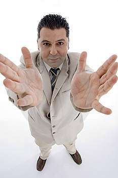 Businessman Showing His Palms Stock Photography - Image: 6825532