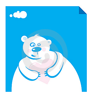 Vector Illustration Polar Bear Royalty Free Stock Image - Image: 6826346
