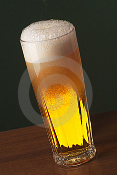 Freshly Poured Beer Stock Image - Image: 6826431
