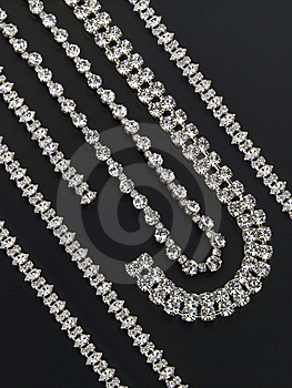 Silver Necklaces And Bracelets With Gemstones Stock Photos - Image: 6826773