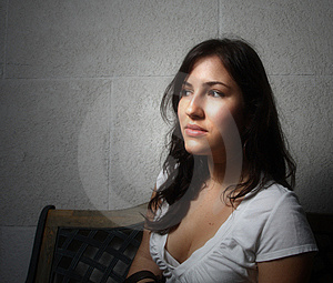 Young Woman Glancing Away Stock Image - Image: 6827201
