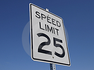 Speed Limit 25MPH Royalty Free Stock Photos - Image: 6828088