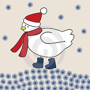 Vogel In De Winter Royalty-vrije Stock Foto - Afbeelding: 6828815