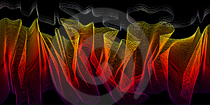 Fire-styled 3d Wireframe Blend Royalty Free Stock Photo - Image: 6829165