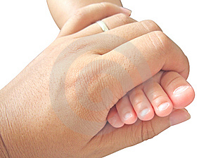 Foot In Hand Royalty Free Stock Photos - Image: 6829278