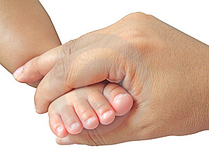 Foot In Hand Royalty Free Stock Images - Image: 6829279