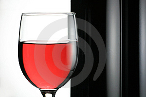 Red Wine with  Wine Bottle Royalty Free Stock Photography