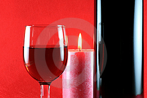 Wineglass With Candle Royalty Free Stock Photo - Image: 6830495