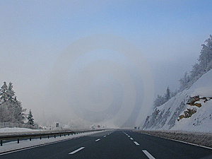 Winter Driving Conditions Royalty Free Stock Image - Image: 6832526