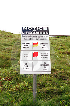 Notice Re Lifeguards Stock Images - Image: 6832864