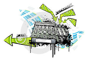 Urban Venue Location Splatter Royalty Free Stock Photo - Image: 6836685